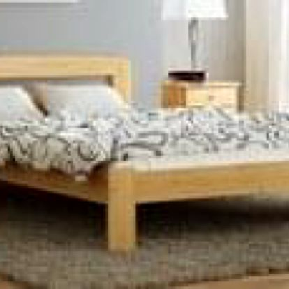 Dřevěná postel Sara 140x200 + rošt ZDARMA dub