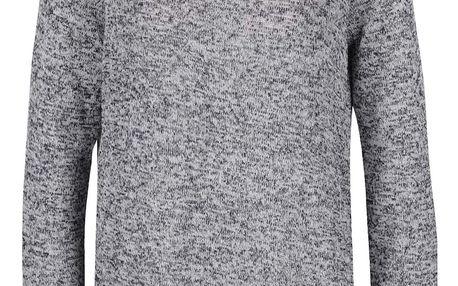 Šedý žíhaný svetr s krajkovými zády VERO MODA Almond
