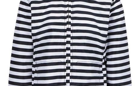 Modro-bílá holčičí pruhovaná bunda name it Mello