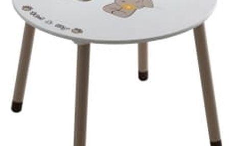 Stolek - Tempo Kondela - Puff stolek, čokoládová/bílá