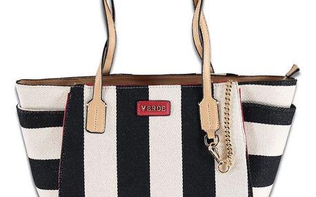 Černo-bílá kabelka Stripy