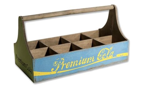 Dřevěná přenoska na lahve Novita Cola