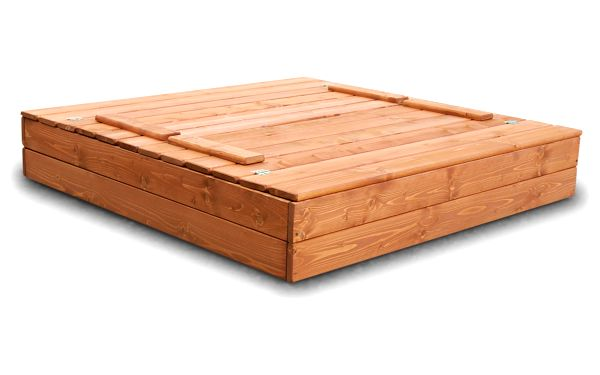 Dřevěné pískoviště 120x120 cm barva týk s krytem5