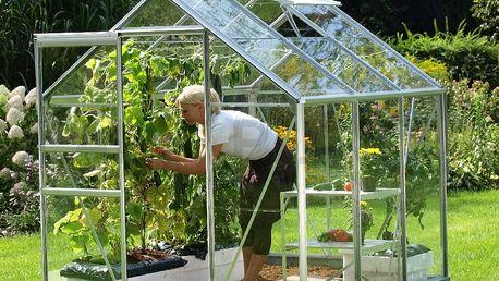 skleník VITAVIA VENUS 3800 čiré sklo 3 mm stříbrný