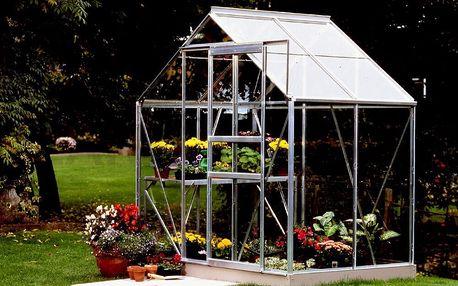 skleník VITAVIA VENUS 2500 čiré sklo 3 mm stříbrný