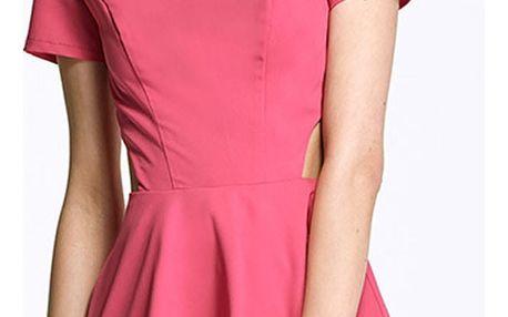 Fuchsiové šaty AL26