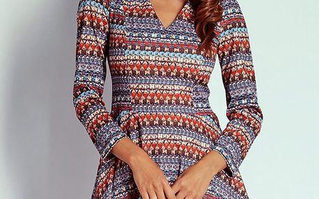 Vícebarevné šaty AT20