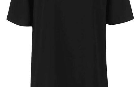 Černé jednoduché volné šaty Alchymi Minor