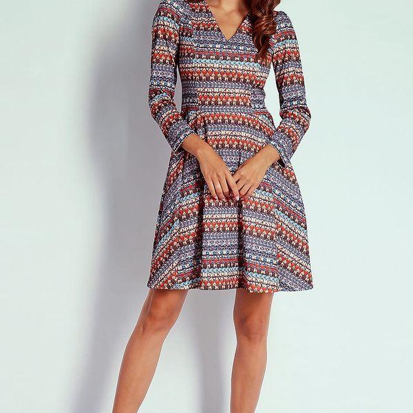 Vícebarevné šaty AT203