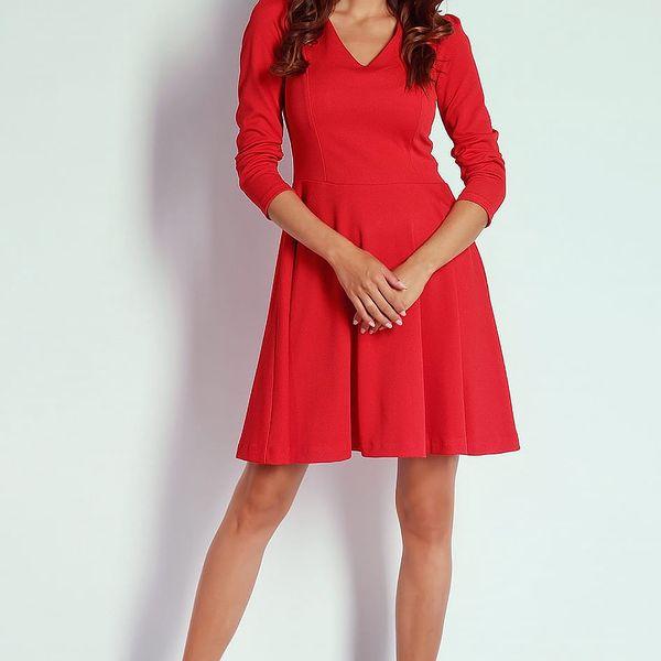 Červené šaty AT203