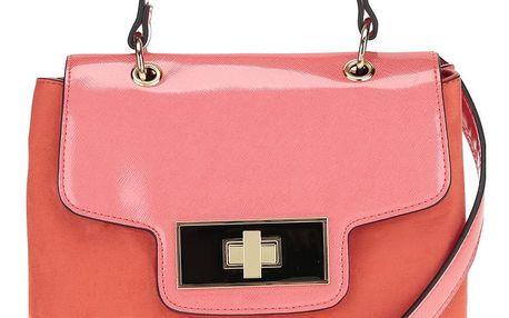 Tmavě růžová crossbody kabelka v semišové úpravě Dorothy Perkins