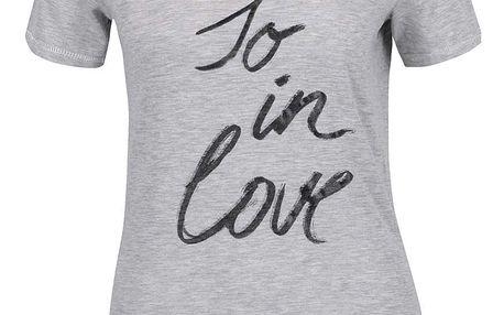 Šedé dámské tričko s potiskem s.Oliver