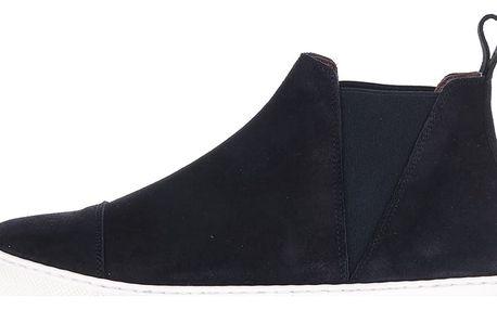 Tmavě modré semišové chelsea boty OJJU Serraje