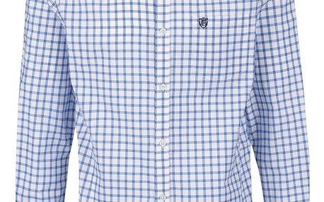 Modro-bílá kostkovaná slim fit košile Selected Homme Coll