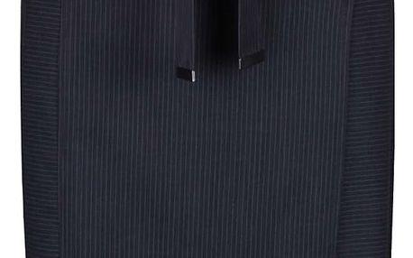 Tmavě modrá pruhovaná sukně s páskem a kapsami Dorothy Perkins