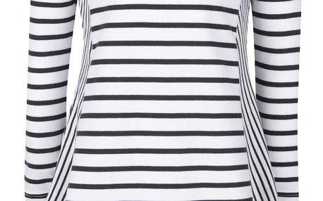 Černo-bílé holčičí pruhované šaty Tom Joule Loralie