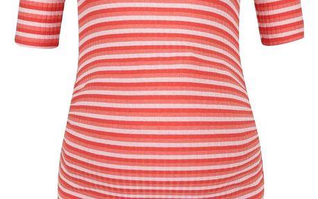 Krémovo-červené pruhované těhotenské tričko Dorothy Perkins Maternity