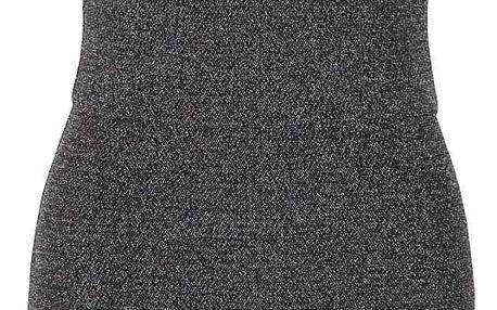 Třpytivé asymetrické šaty ve stříbrné barvě TALLY WEiJL