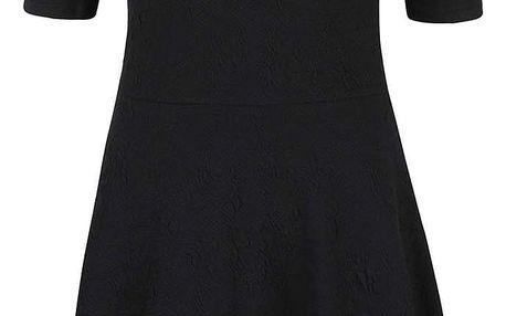 Černé šaty se vzorem VERO MODA Marianne