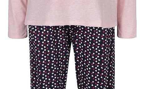 Modro-růžové žíhané pyžamo s motivem snídaně Dorothy Perkins
