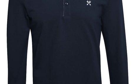 Tmavě modré polo triko s dlouhým rukávem Selected Homme Marco