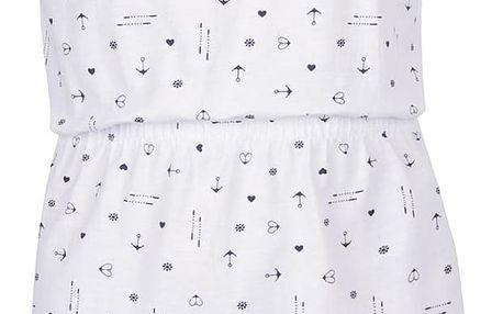 Bílé holčičí vzorované šaty Blue Seven
