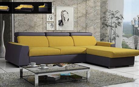 Pyka Rohová rozkládací sedací souprava NOVA, Jazz Lemon + Soft 20 L/P