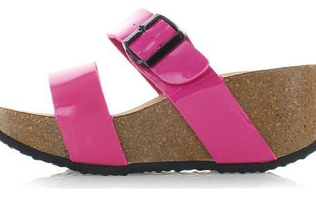 Fuchsiové platformové pantofle Vantasia