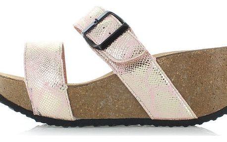 Růžové platformové pantofle Ula Ula