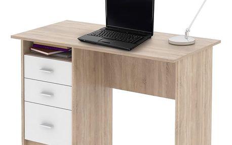 Tempo Kondela PC stůl SAMSON, dub sonoma