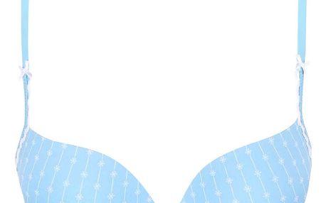 Modrá podprsenka se vzorem malých kvítků Lisca Wittily