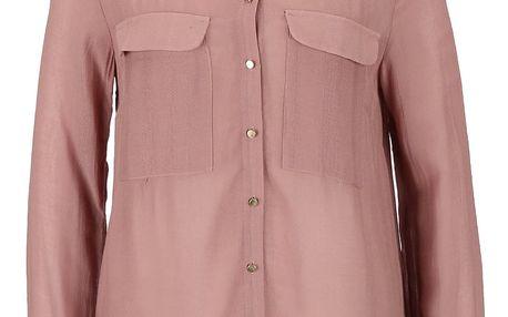 Hnědorůžová košile s dlouhým rukávem VILA Port
