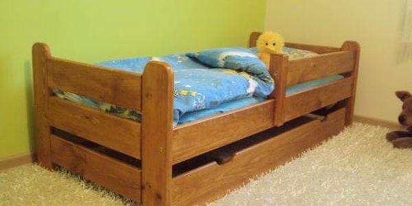 Dětská postel Medvídek z masivu 80x160 borovice borovice4