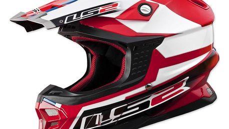 Motokrosová přilba LS2 MX456 Tuareg Barva bílo-červená, Velikost XL (61-62)