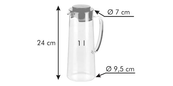 Džbán do lednice TEO 1.0 l, bílá2
