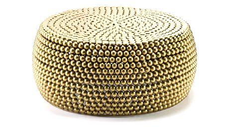 Konferenční stolek Thai Natura Golden Metal - doprava zdarma!