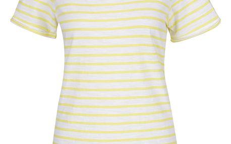 Žluté dámské pruhované tričko Tom Joule Daily Stripe