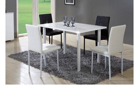 Tempo Kondela Jídelní stůl UNITA, bílá, extra vysoký lesk