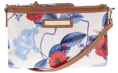 Krémová květovaná crossbody kabelka s koženými detaily Liberty by Gionni Anais