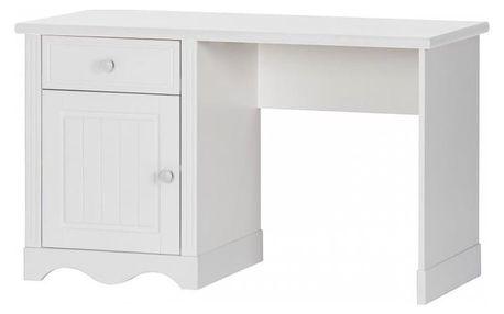 Szynaka Psací stůl PRINCESSA 04 barevné provedení doplňků: bílá / bílá