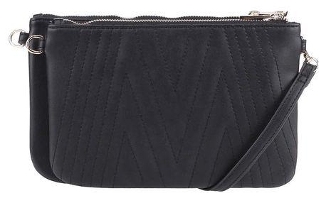 Černá crossbody kabelka/psaníčko s detaily ve zlaté barvě Miss Selfridge