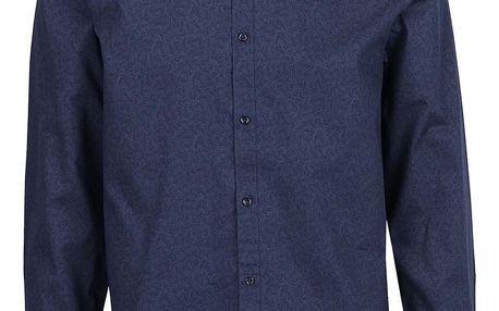 Tmavě modrá košile s jemným vzorem Jack & Jones
