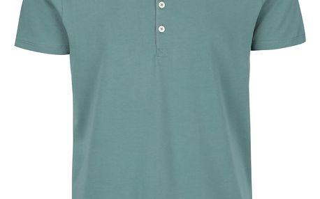 Zelené triko s knoflíky Selected Niklas