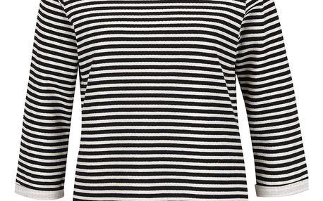 Krémovo-černé pruhované tričko VERO MODA Local