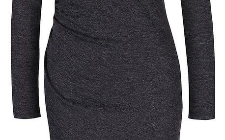 Šedé asymetrické svetrové šaty VILA General