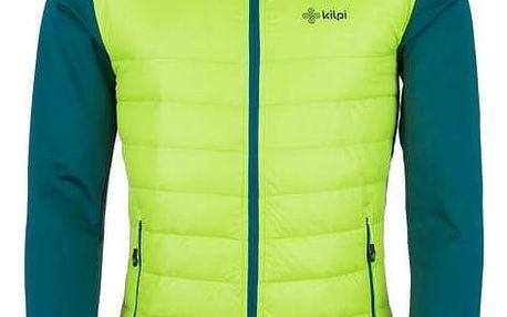 Pánská lehká strečová bunda KILPI BAFFIN-M Světle zelená XL