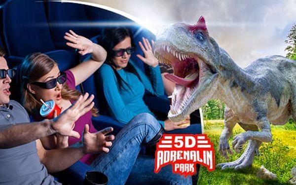 5D Adrenalin Park Plzeň: vstupenky do 5D kina na 1 libovolný film z aktuální nabídky pro 2 osoby2