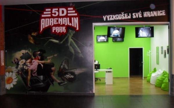 5D Adrenalin Park Plzeň: vstupenky do 5D kina na 1 libovolný film z aktuální nabídky pro 2 osoby3