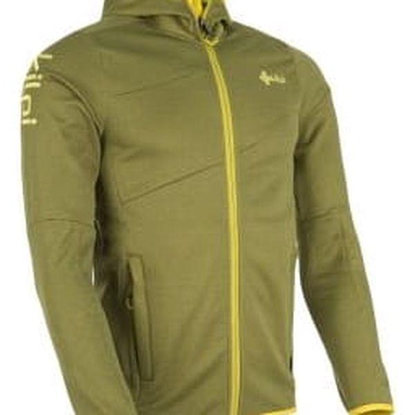 Pánská fleecová mikina KILPI BORIS žlutá 3XL2