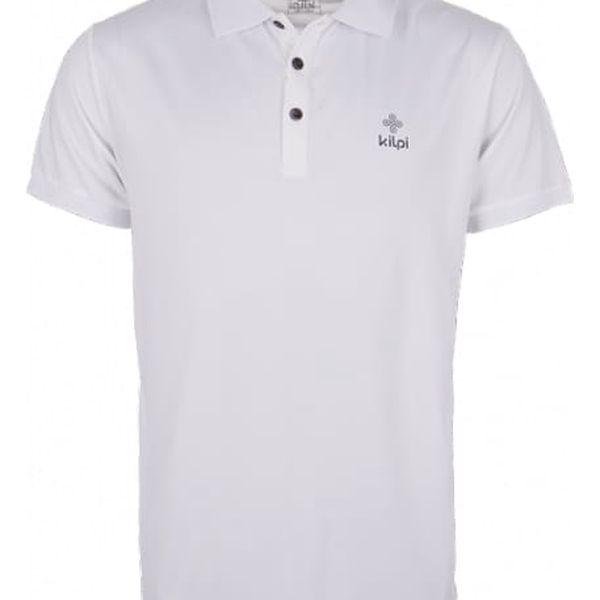 Pánské technické polo tričko KILPI JOHAN bílá l